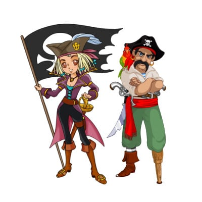 A Treasure Hunt - Pirate and Mermaid
