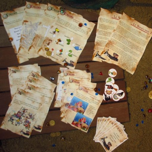A Treasure Hunt - product pirate and mermaid challenge and riddle