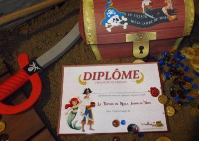 A Treasure Hunt - product pirate and mermaid diploma