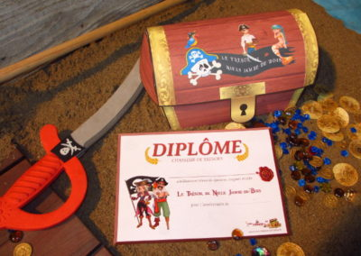 A Treasure Hunt - product pirate and mermaid diploma