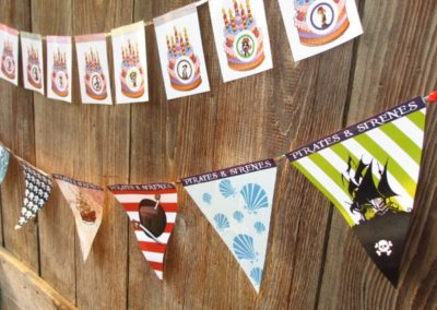 A Treasure Hunt - product pirate and mermaid garland and pennant
