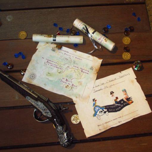 A Treasure Hunt - product pirate and mermaid invitation