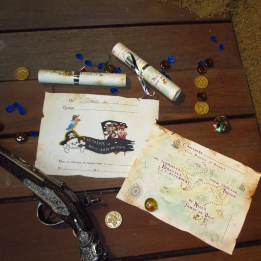 A Treasure Hunt - product pirate and mermaid invitation