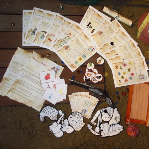 A Treasure Hunt - product pirate and mermaid games, art and craft