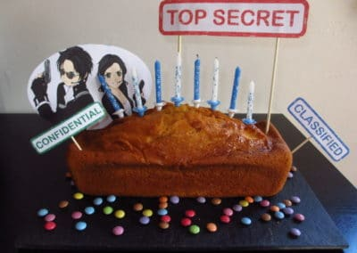 A Treasure Hunt - Spy and Secret Agent - Cake decoration