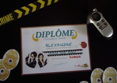 A Treasure Hunt - Spy and Secret Agent - Diplomas