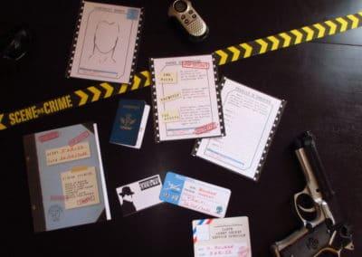 A Treasure Hunt - Spy and Secret Agent - Investigation file