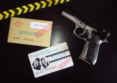 A Treasure Hunt - Spy and Secret Agent - Invitation