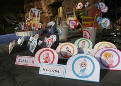 A Treasure Hunt - Princess and Knight - Name-tags for the table