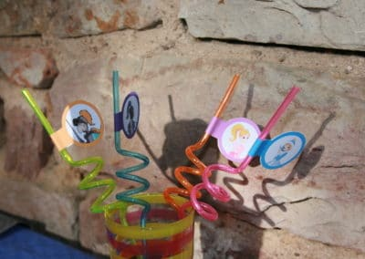 A Treasure Hunt - Princess and Knight - Straws decoration