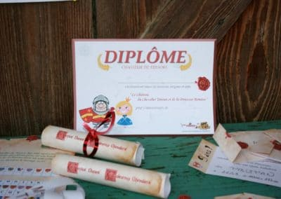 A Treasure Hunt - Princess and Knight - Diplomas